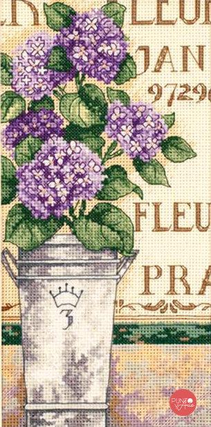 Hortensia Floral - 65092 Dimensions - Kit de punto de cruz