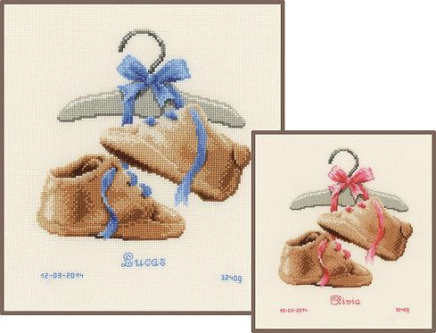Natalicio - Mis primeros zapatos - Vervaco - Kit de punto de cruz