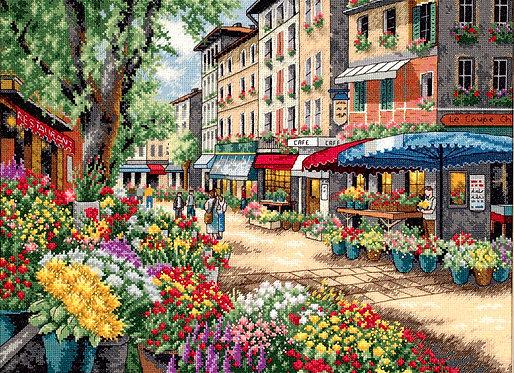Mercado Parisino - 35256 Dimensions - Kit de punto de cruz