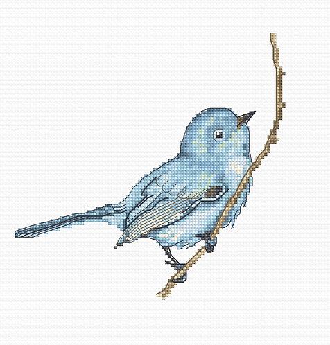 B1158 Pajarito Azul kit de punto de cruz Luca-S