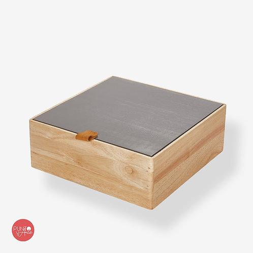 Caja de almacenamiento de madera - Prym - Color Topo
