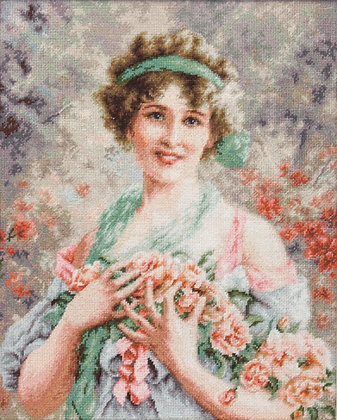 The young woman with the roses
