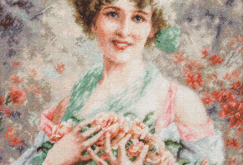 B553 The girl with the roses - Cross Stitch Kit Luca-S