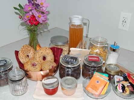 Continental breakfast items