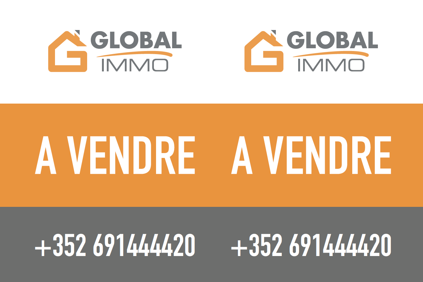 Global Immo - panneau immobilier
