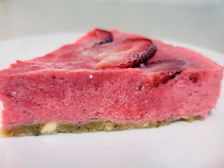 Raw Vegan Cake with Any Berries or Fruits