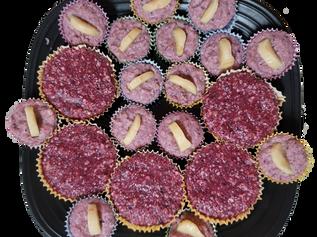 Raw Berry Cupcakes
