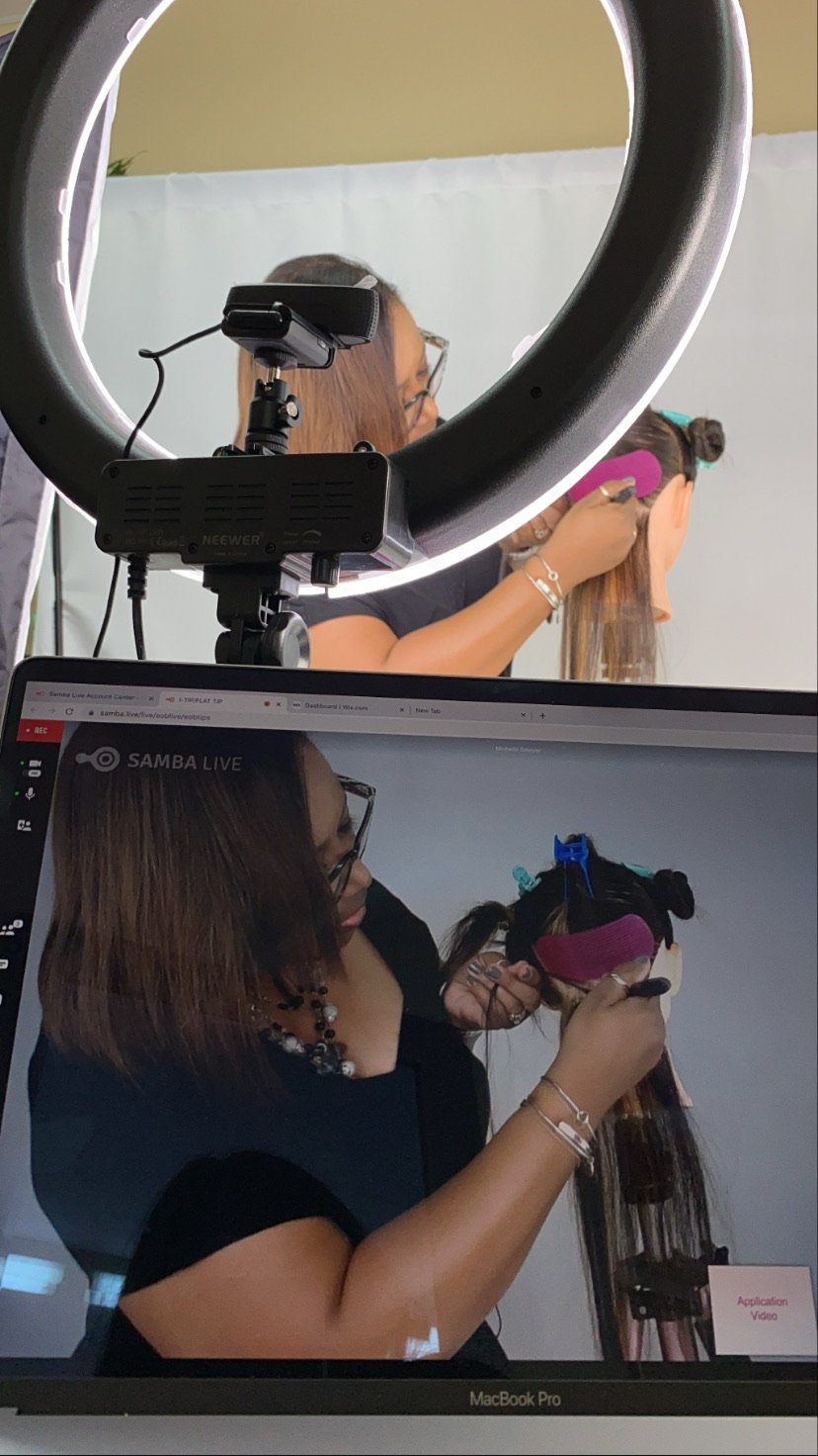 Color and Tape-In Hair Extensions