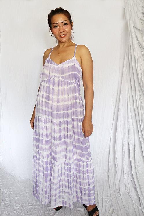 Kiba Dress - Lilac Tie Dye - Rayon