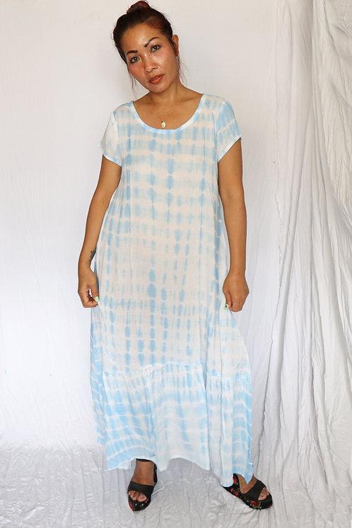 D41201 - Aqua Tie Dye - Rayon