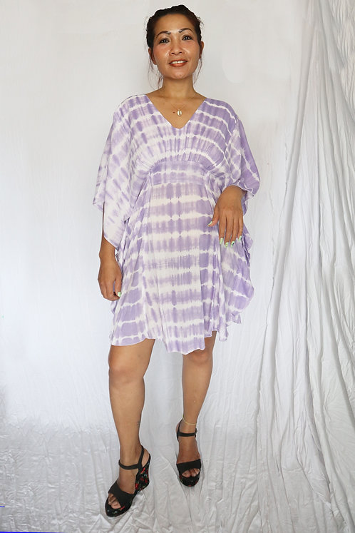 Butterfly Dress - Lilac Tie Dye - Rayon