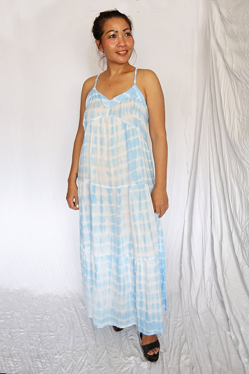 Kiba Dress - Aqua Tie Dye - Rayon