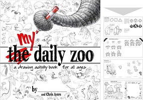 learn how to draw activity book My Daily Zoo cartoons animals