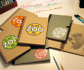 Daily Zoo sketchbooks, Chris Ayers