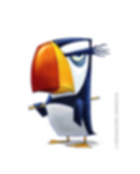 Puffin character design Penguins of Madagascar