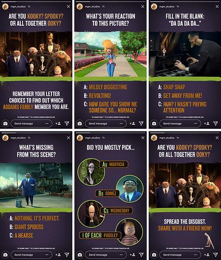 Addams Family IG Story Quiz