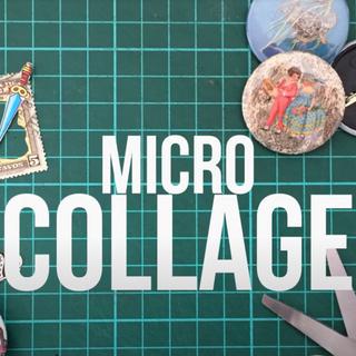 micro collage & botones2018