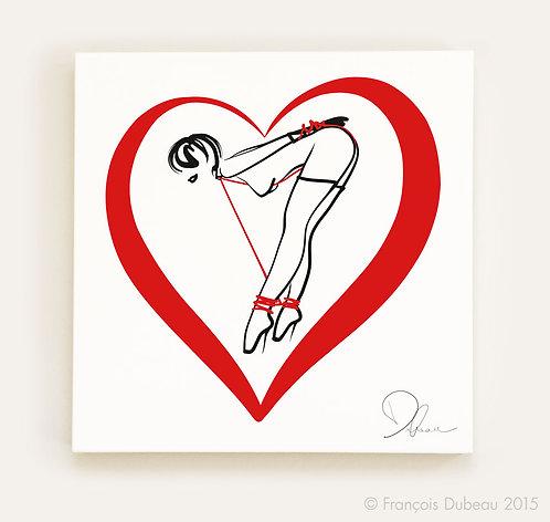 Le coeur rouge