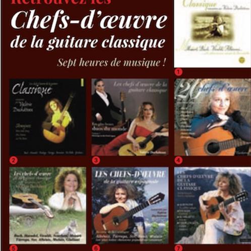 Pack 7 Chefs d'Oeuvre de la Guitare Classique