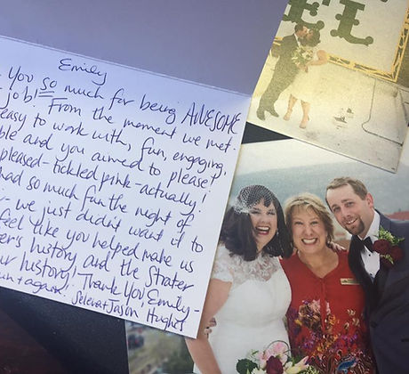 Review from a happy couple who worked with Durango Wedding Planner Emily Spencer