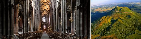 Cathédrale de Clermont Ferrand, en pierres de Volvic