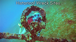 scuba diving around historical wreck sites