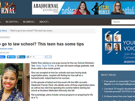 Want to go to law school? This teen has some tips