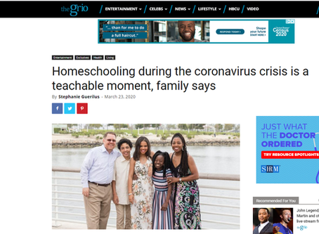 The Grio - Homeschooling during the coronavirus crisis is a teachable moment, family says