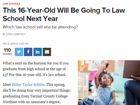 This 16-Year-Old Will Be Going To Law School Next Year