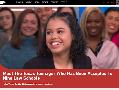 Meet The Texas Teenager Who Has Been Accepted To Nine Law Schools