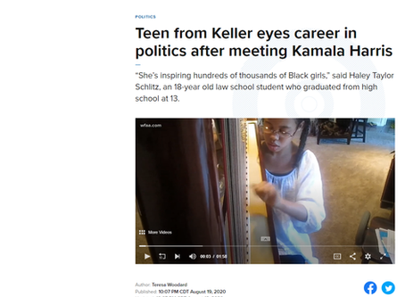 Teen from Keller eyes career in politics after meeting Kamala Harris