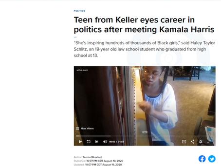 Teen from Keller eyes career in politics after meeting Kamala Harris