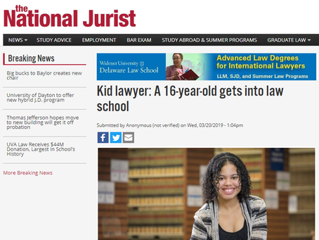 Kid lawyer: A 16-year-old gets into law school
