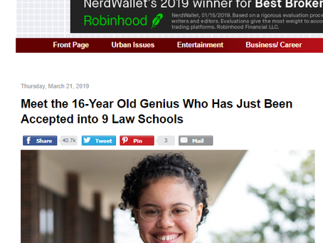 Meet the 16-Year Old Genius Who Has Just Been Accepted into 9 Law Schools
