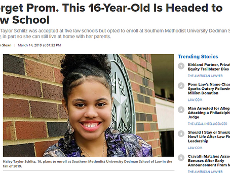 Forget Prom. This 16-Year-Old Is Headed to Law School