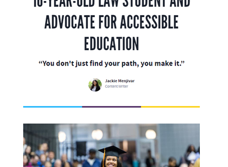MEET HALEY TAYLOR SCHLITZ: THE 16-YEAR-OLD LAW STUDENT AND ADVOCATE FOR ACCESSIBLE EDUCATION