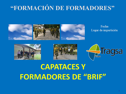 "portada en power point del curso ""Capataces y formadores BRIF"""