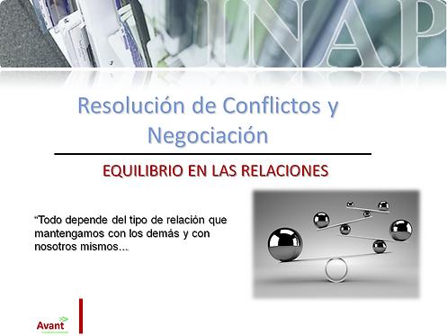 Curso gestión de conflictos y negociación