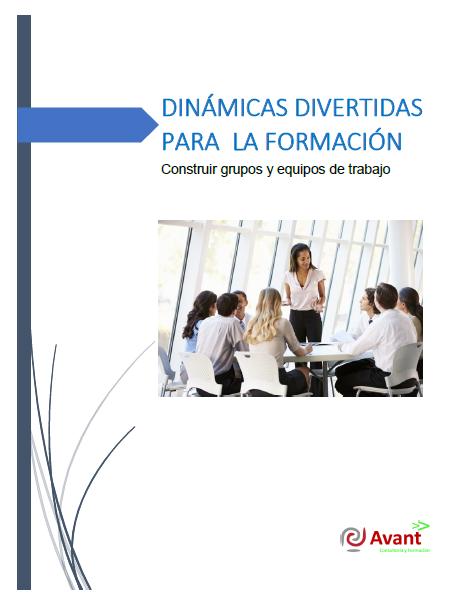 """portada del ebook """"dinámicas divertidas para la formación"""""""
