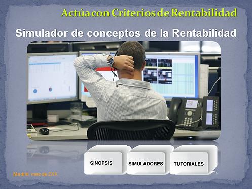 """portada del curso """"simulador de rentabilidad - Business case"""""""