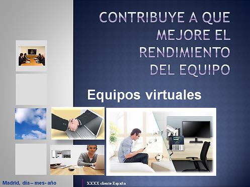 portada del curso sobre Equipos Virtuales en PowerPoint