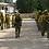 Brigada forestal en entrenamiento contra-incendios