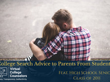 College Search Advice to Parents From Students