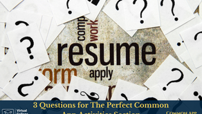 3 Questions for The Perfect Common App Activities Section