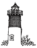 black and white sketch of lighthouse