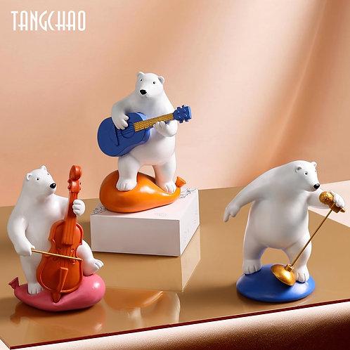 Likable Kids' Stuff | likable.com.au | Polar Bear Musicians Ornaments | Polar Bear Figurines | Polar Bear Room Decor