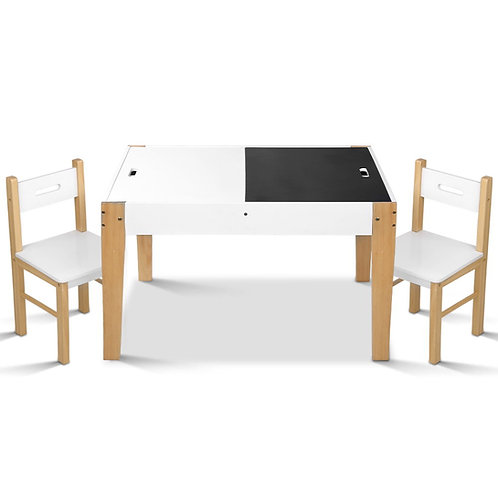 likable.com.au | Likable Children Table & Chairs | Creative Children Table with built-in chalk board