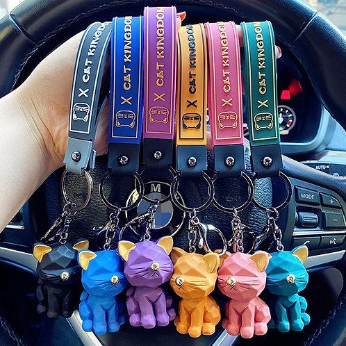 Likable Kids' Stuff | likable.com.au | Sassy Cat Keyrings | Cat Bag Charm | Gift for girls | Party favour gift