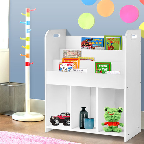 Likable Kids' Stuff | likable.com.au | Keezi Kids 3 Tier Bookcase | Children Bookcase and Storage
