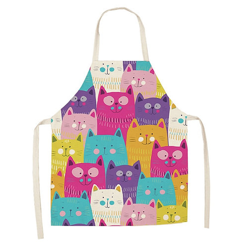 Likable Kids' Stuff | likable.com.au | Matching Adult and Child Cat Lover Aprons | Cat Lover Aprons | Kids' Aprons